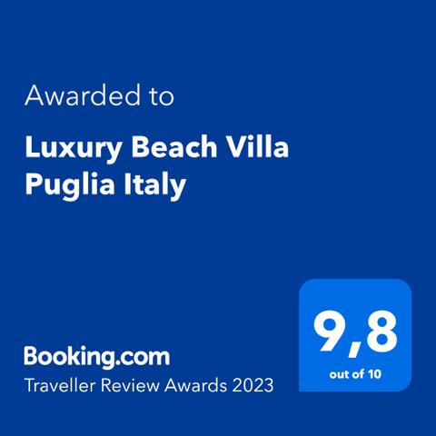 Beach Villa Puglia Award