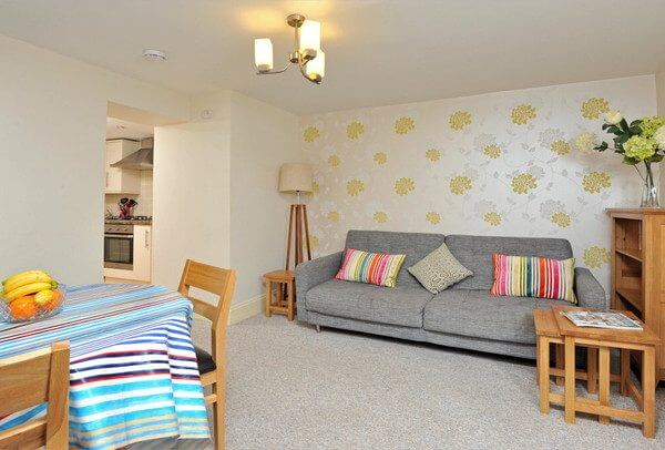 Living dining area holiday accommodation